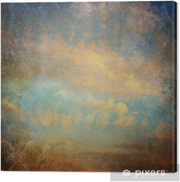 Obraz na płótnie Archiwalne tła z chmury na niebie - Czas