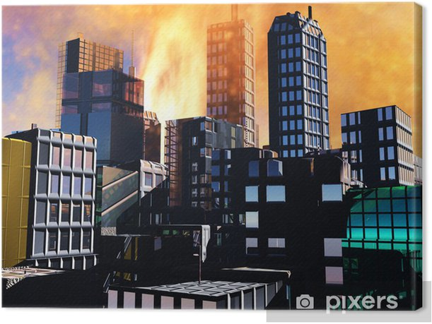 Obraz na płótnie Armagedon Scena w mieście - Tekstury