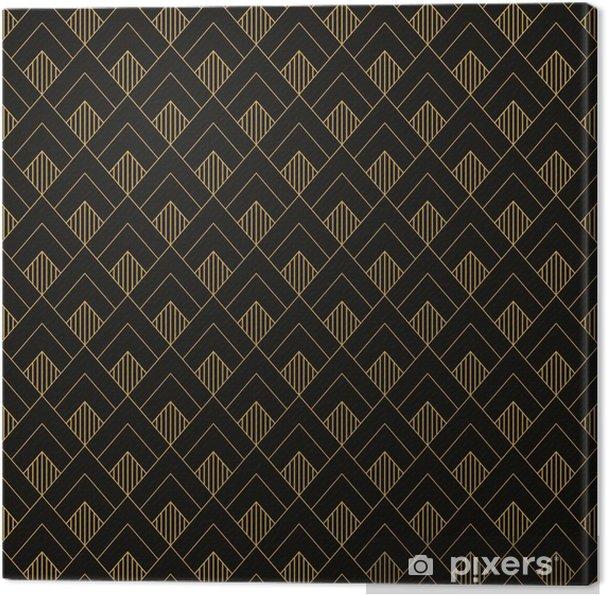 Obraz na płótnie Art deco bez szwu vintage wzór tapety. geometryczny decorativ - Zasoby graficzne