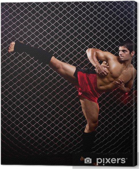 Obraz na płótnie Artysta sztuk walki postawione przed ogniwa łańcucha - Tematy