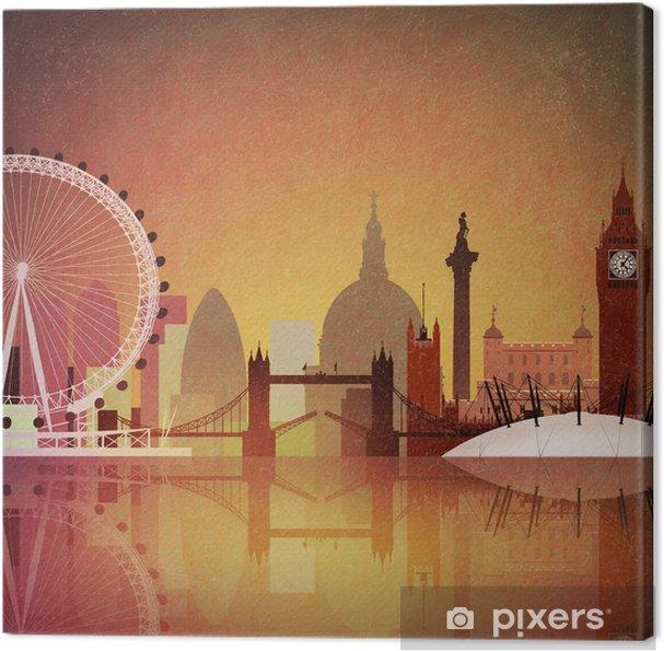 Obraz na płótnie Artystyczne vintage grunge pejzaż Londynie - Do jadalni