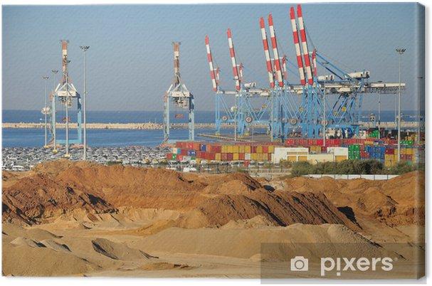 Obraz na płótnie Ashdod portu. - Bliski Wschód
