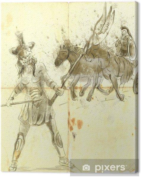 Obraz na płótnie Atena - bogini mądrości, odwagi, inspiracji i sprawiedliwości - Ezoteryka