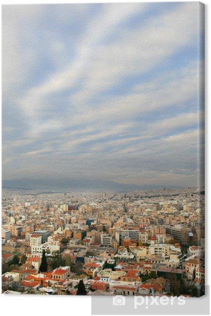 Obraz na płótnie Ateny, Grecja - widok na Morze Śródziemne kapitału o zmierzchu - Miasta europejskie