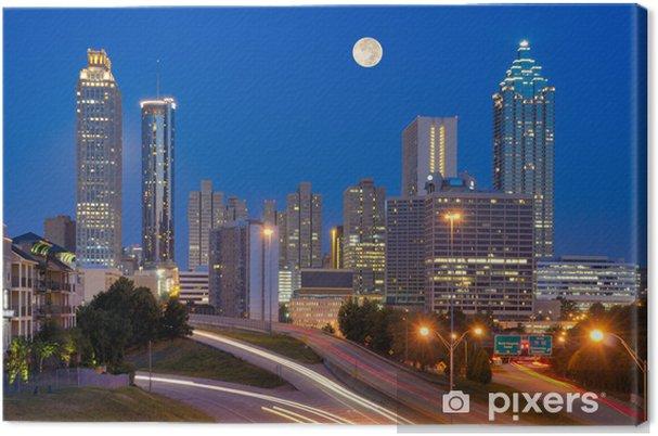 Obraz na płótnie Atlanta Skyline pod Pełni Księżyca - Ameryka