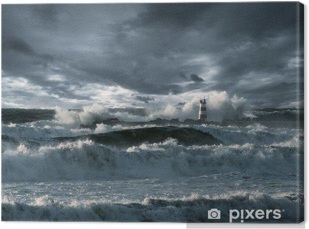 Obraz na płótnie Atlantycki sztorm - Latarnia morska