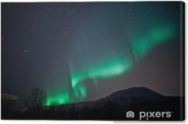 Obraz na płótnie Aurora Borealis falujący zasłony na niebie - Tematy