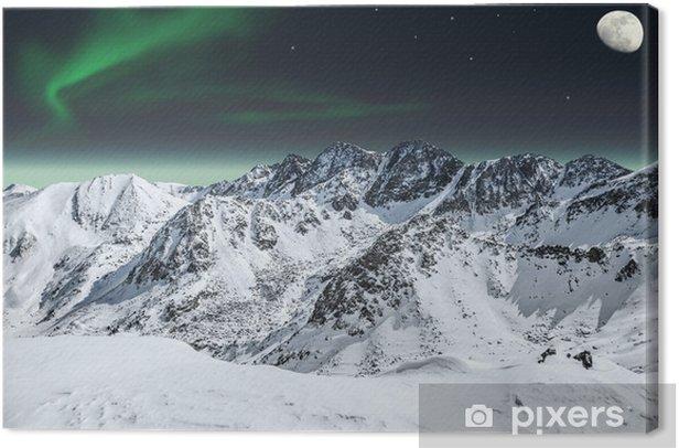 Obraz na płótnie Aurora i księżyc w górach - Przeznaczenia
