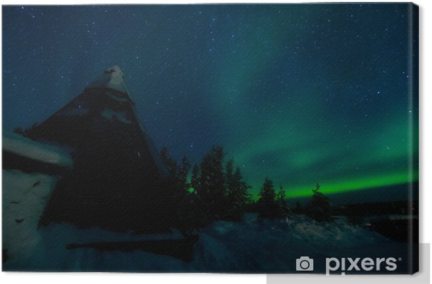 Obraz na płótnie Aurora + szkło tipi - Cuda natury