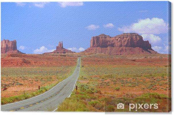 Obraz na płótnie Autostrada 163 zbliża Monument Valley. - Tematy