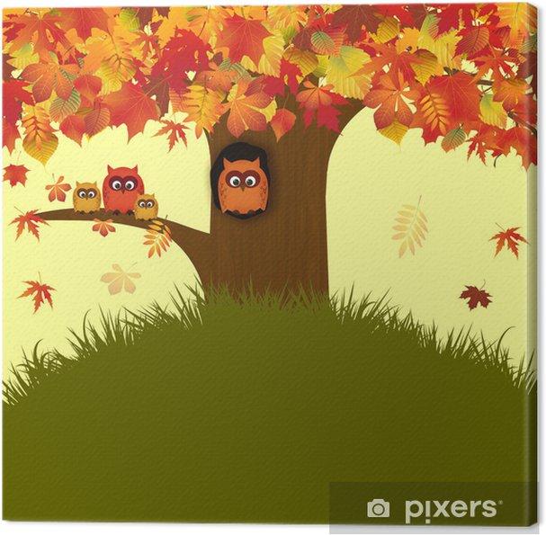 Obraz na płótnie Autumn Flyer - Pory roku