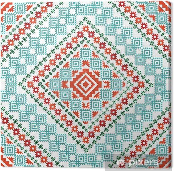 Obraz na płótnie Aztec ornament geometryczny - Style