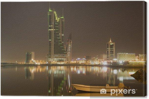 Obraz na płótnie Bahrain cityscape w nocy - Bliski Wschód