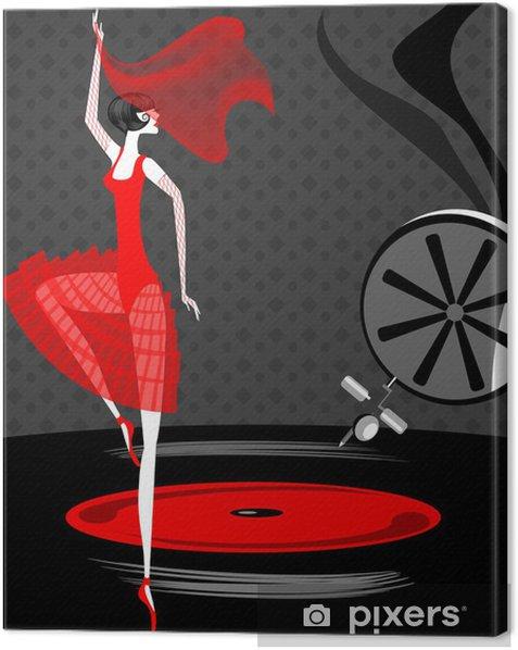Obraz na płótnie Baleriny w kolorze czerwonym - Kobiety
