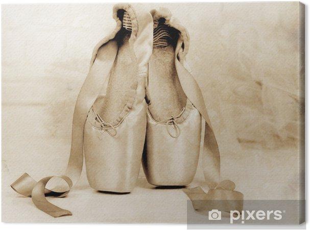 Obraz na płótnie Balet pointe buty na podłodze - Style