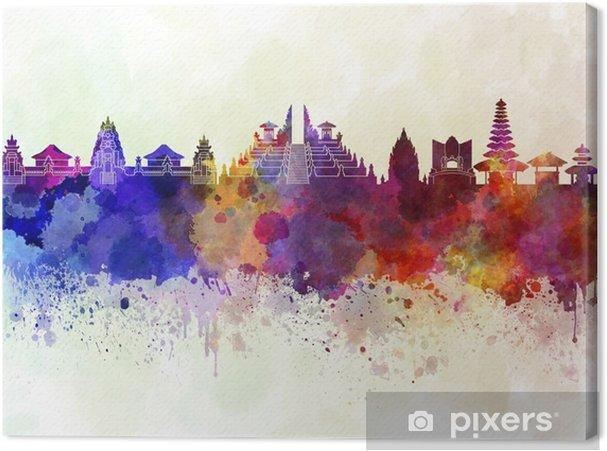 Obraz na płótnie Bali skyline w tle akwareli - Krajobrazy
