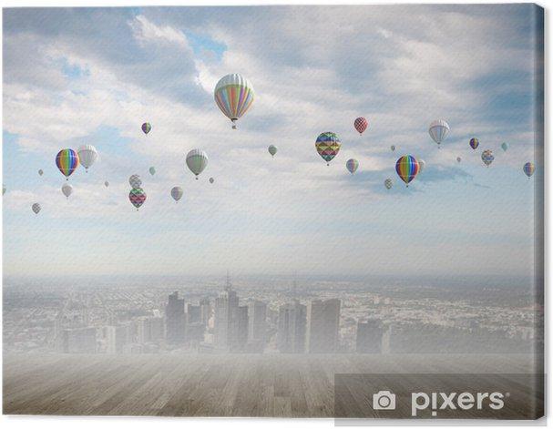 Obraz na płótnie Balon na niebie - Święta Narodowe