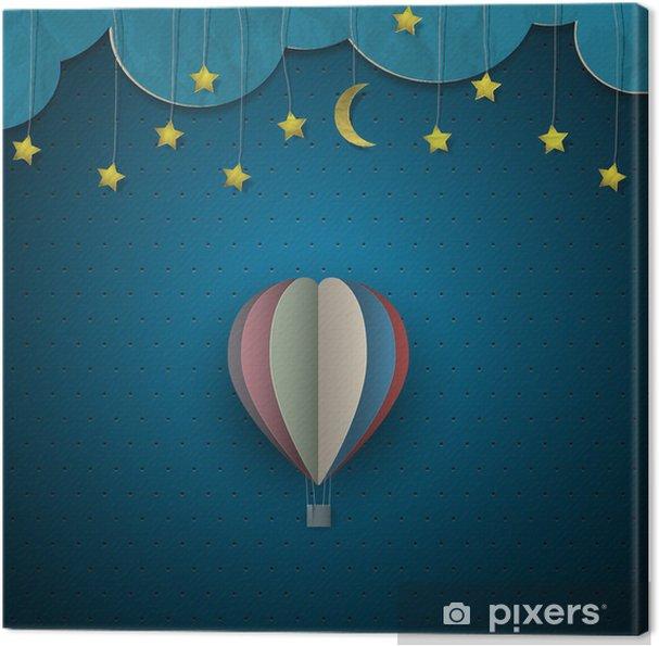 Obraz na płótnie Balonem i księżyc z gwiazdami - Tematy