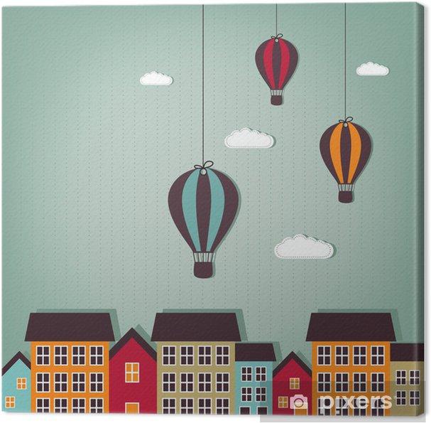 Obraz na płótnie Balony latające nad miastem - Przeznaczenia
