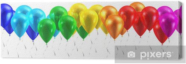 Obraz na płótnie Balony tęczy samodzielnie na białym tle - Świętowanie