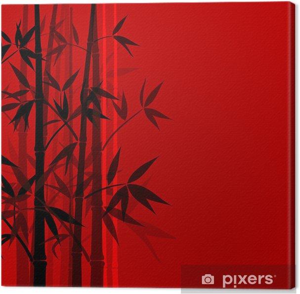Obraz na płótnie Bamboo tle, ilustracji - Tła