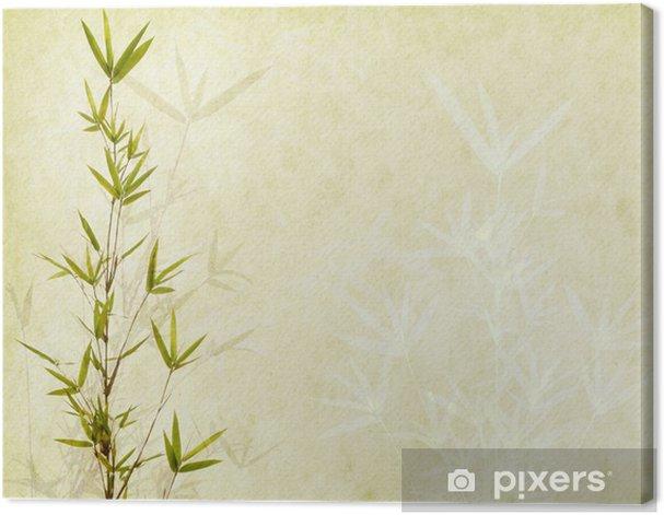 Obraz na płótnie Bambus na starych grunge tekstury papieru tle - Tematy
