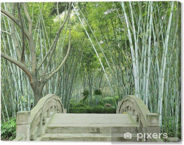 Obraz na płótnie Bambusowe gaje i mały most - Pejzaż miejski
