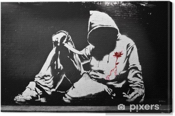 Obraz na płótnie Banksy bluza z nożem Graffiti -