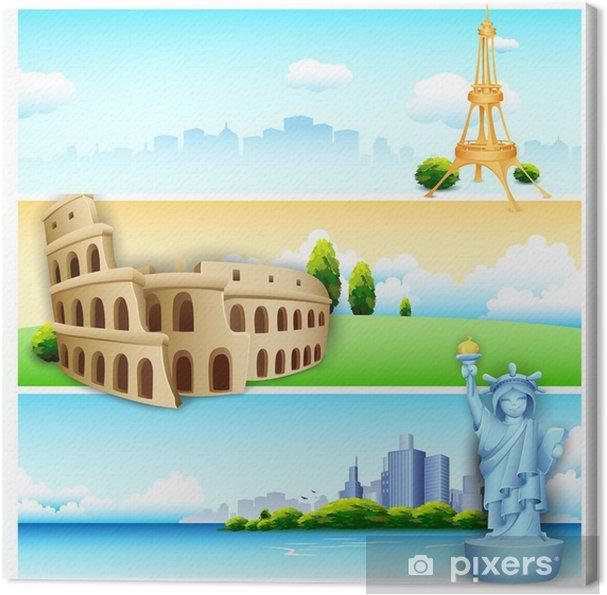 Obraz na płótnie Banner Travel - Zabytki