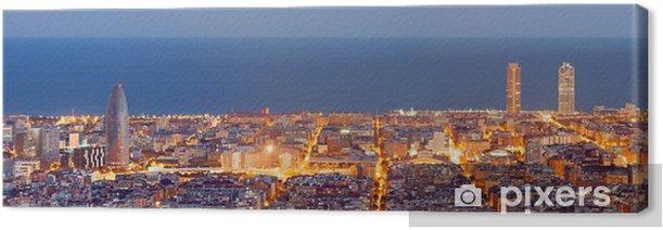 Obraz na płótnie Barcelona skyline panorama niebieski godzinę - Tematy