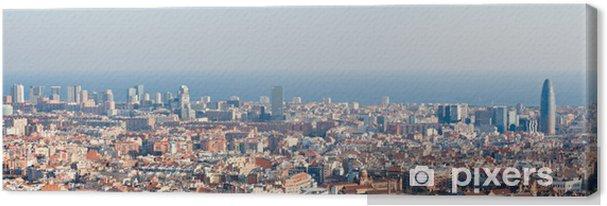 Obraz na płótnie Barcelona skyline panorama - Tematy