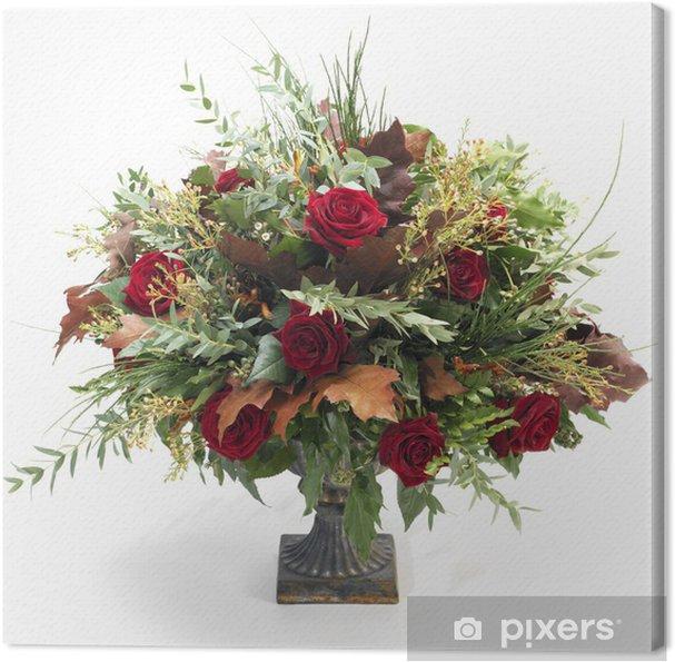 Obraz na płótnie Barokowy bukiet kwiatów - Kwiaty