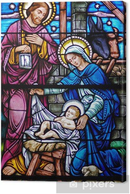 Obraz na płótnie Barwione szkło Narodzenia wdowa - Tematy