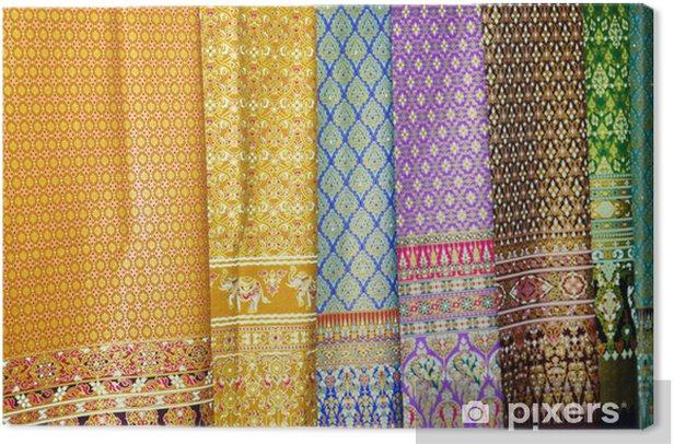 Obraz na płótnie Bawełna, jedwab, tkaniny jedwabne tajski, unikalne. - Criteo
