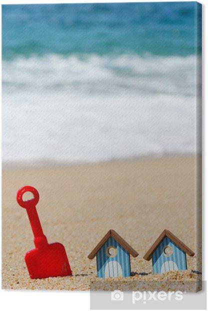 Obraz na płótnie Beach schronisk i zabawki - Wakacje
