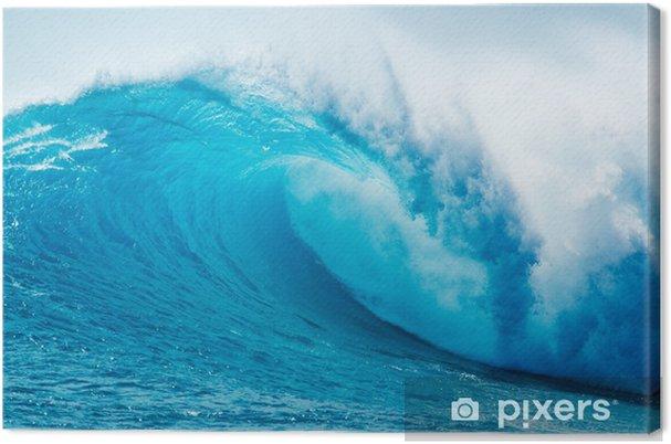 Obraz na płótnie Beautiful Blue Ocean Wave - Morze i ocean