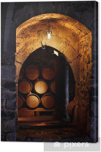 Obraz na płótnie Beczka wina w winerry. - Style