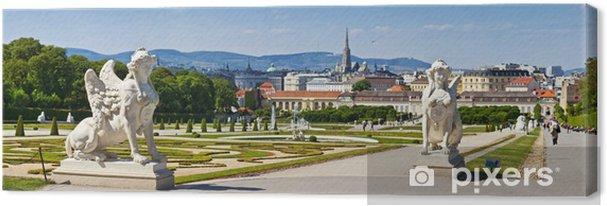 Obraz na płótnie Belweder w Wiedniu z rzeźbami Sphinx - Miasta europejskie