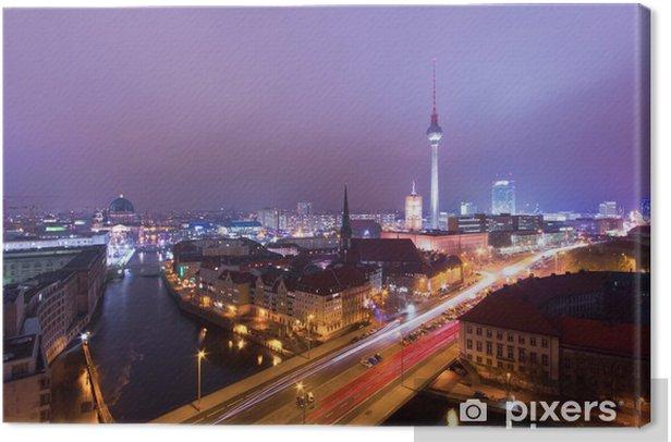 Obraz na płótnie Berlin wieczorem - Miasta europejskie