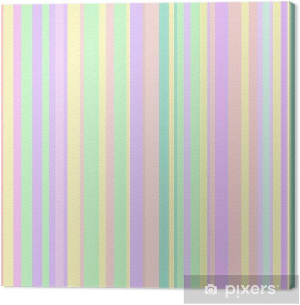 Obraz na płótnie Bez szwu kolorowe paski pastelowe - Tła