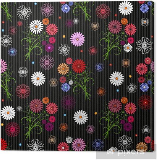Obraz na płótnie Bez szwu kwiatowy wzór szary - Tła
