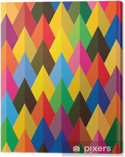 Obraz na płótnie Bez szwu streszczenie kolorowe tło szyszek lub kształtu trójkąta - Tła
