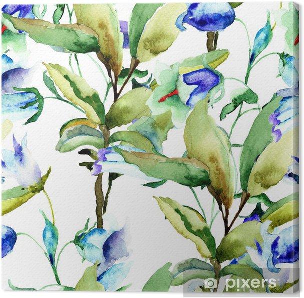 Obraz na płótnie Bez szwu tapety z kwiatów niebieskie lato - Kwiaty