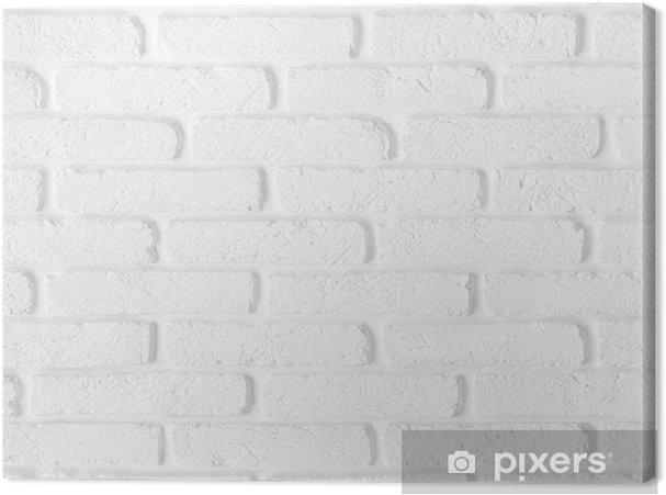 Obraz na płótnie Bez szwu tekstury biały mur z cegły - Tła