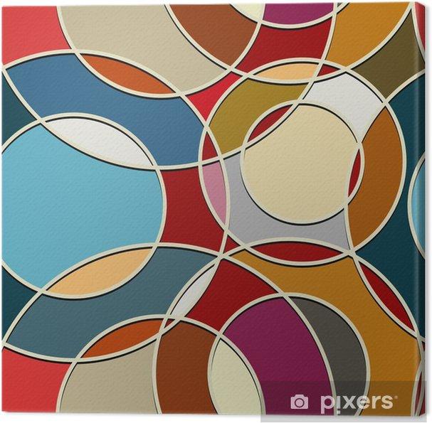 Obraz na płótnie Bez szwu tekstury koloru okrągłych elementów - Tła