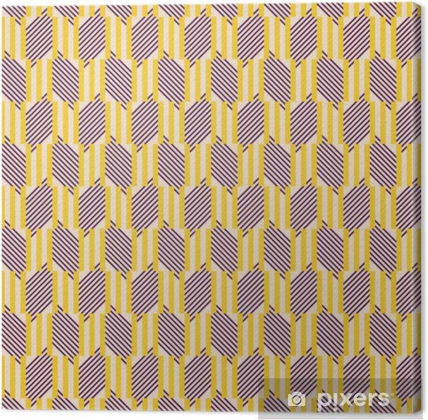 Obraz na płótnie Bez szwu wzór geometryczny potrójnych sztyfty i ukośne linie - Zasoby graficzne