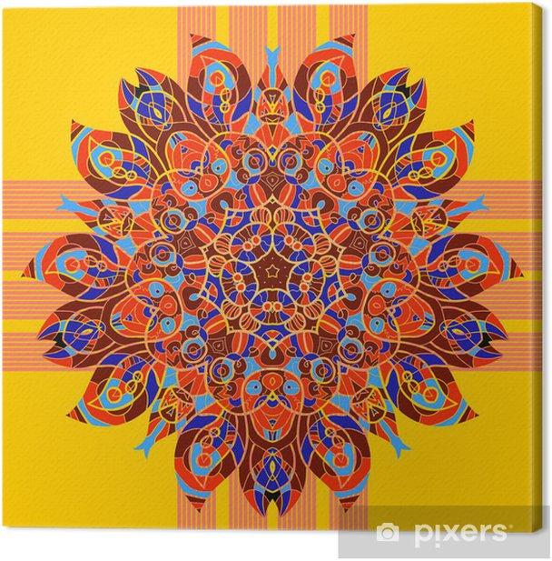 Obraz na płótnie Bez szwu wzór kwiatowy orient, w pastelowych kolorach. Mandala - Finanse