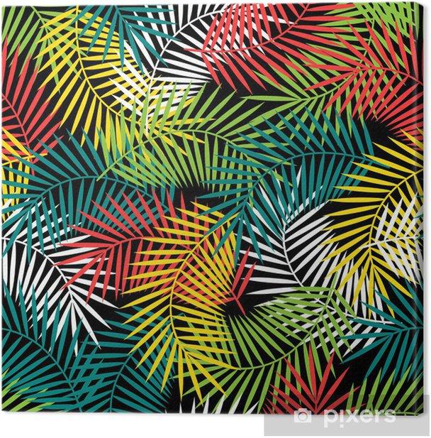 Obraz na płótnie Bez szwu wzór z stylizowane tropikalnych kokosowego liści palmowych. - Style