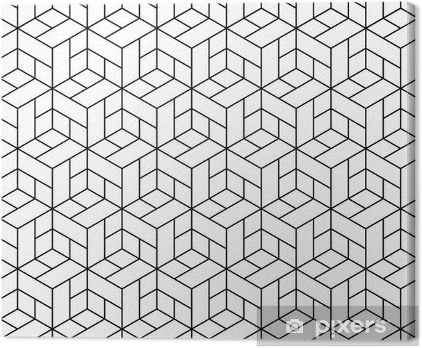 Obraz na płótnie Bezproblemowa geometryczny wzór z kostki. - Abstrakcja