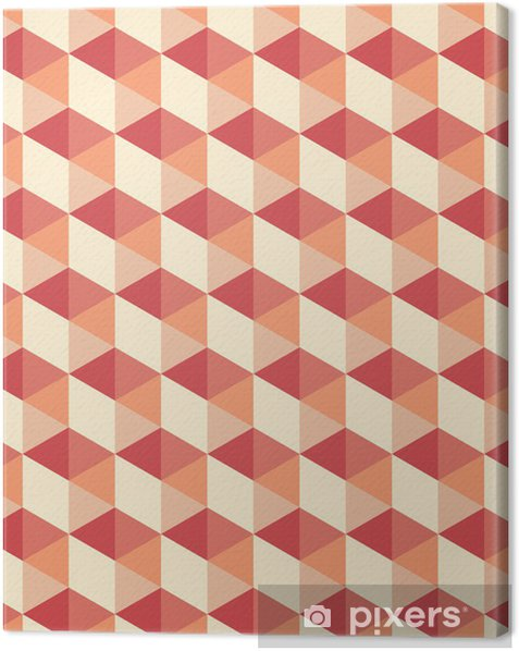 Obraz na płótnie Bezproblemowa sześciokątny wzór - Tła